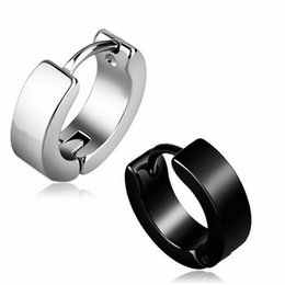 Wholesale earrings heart hoops - 20 Pieces Stainless Steel Ear Studs Mens boy girl punk hoop Earrings Stud Earring Women