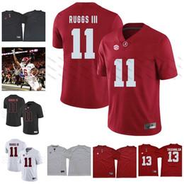 e515f619f67 NCAA Alabama Crimson Tide  6 Devonta Smith 17 Cam Sims 11 Henry Ruggs III 1  Robert Foster 2018 Championship Football Jerseys White Red