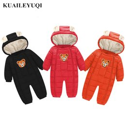 a940efd44 2018 Ropa de niños recién nacido Mono del bebé mamelucos de invierno chica  Niño Mameluco Abajo chaqueta de algodón grueso cálido bebé recién nacido  Ropa ...