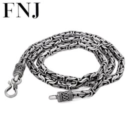 Wholesale solid sterling silver snake chains - 925 Sterling Silver Necklace Men Jewelry Big Statment 4mm 5mm 8MM 100% S925 Solid Silver Chain Necklaces Male Jewelry Making