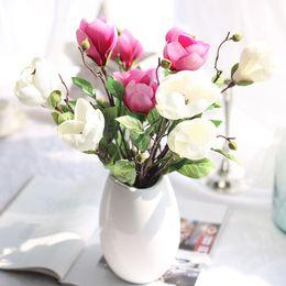 2019 оптовая продажа искусственных цветов для ремесел Искусственный Юйлань Цветок Магнолии Шелк Один Для Дома И Свадьба Украшение Искусственные Цветы Ремесла Оптовая дешево оптовая продажа искусственных цветов для ремесел