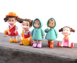 Micro Landscape Decor Miniature Figurine Xiaomei Girls Mini fai-da-te Fairy Garden Ornament Varie Set resina bambola artigianale Accessori per piante Regalo da