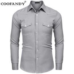 81cf1914ac camicie a maniche lunghe uomo Sconti Pulsanti Business Fashion Long Turn  Spring Collar manica a righe