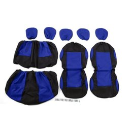 Wholesale Knitted Car Seat Covers - wholesale New 9pcs Auto Seat Covers Detachable Washable Knitted Car Sedan Truck Van Vehicle Universal Seat Protective Covers