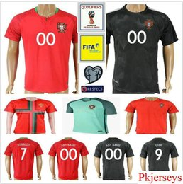 Wholesale Portugal Xl Soccer Jersey - 2018 Portugal World Cup Jersey 7 Ronaldo Vieirinha SILVA MIGUEL F.COENTRAO J.MOUTINHO NANI Custom Red Home Away Soccer Football Shirt