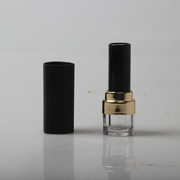 Wholesale Charm Storage - 12.1mm New Charming Lipstick Tube, DIY Plastic Lip Balm Container, Empty Matte Black Lipstick Storage fast shipping F250