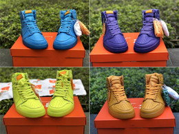 Wholesale Gold Lemon - 2018 With Box Mens Basketball Shoes 1S Sneaker OG High Grape Orange Peel Lemon Lime Outdoor Sports Trainers for Men Size US7.5-13