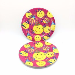 10pcs lot party party disposable tableware smiling face plate child favorite birthday partysupplies  sc 1 st  DHgate.com & Shop Disposable Birthday Plates UK   Disposable Birthday Plates free ...