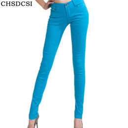 0430c9a5297 CHSDCSI Jeans 2018 New Sexy Women Pants Spring Summer Fashion Pencil Pant  Lady Skinny Long Candy Color Plus Size Trousers D1892501