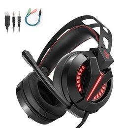 Wholesale headset gamers - ONIKUMA M180 PS4 Headsets Gaming Headset For PC Gamer Playstation 4 Laptop Computer Gaming Headphones With Microphone Mic LED