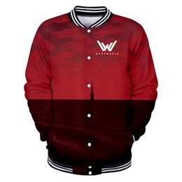 712b5d2896dd3 2018 New WEST WORLD 3D Print Baseball Coat Hot TV Show Men Ladies 2018  Baseball Jacket Fashion Collage Preppy Style Clothes