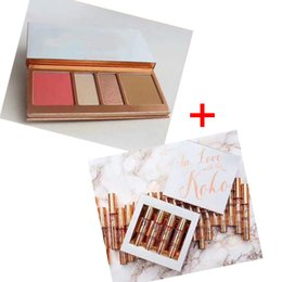 Wholesale Blush Eyeshadow Lipstick - Best quality!! In Love with Koko KOLLECTION Blush Highlighter Palette + lipstick lipgloss Contour eyeshadow