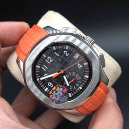 0d7f461944d mostrador laranja Desconto DP Fábrica Nautilus Assista Top Quality Laranja  Mostrador VK Movimento De Quartzo Relógios