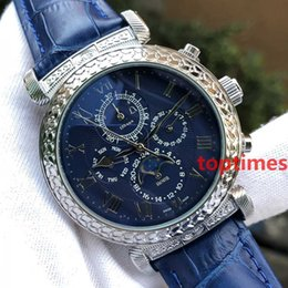 Wholesale sky cases - Brand Luxury Womens Fashion Leather Mens Watch SKY MOON Aaa Designer Men Engraving Case Wristwatch Automatic Geneva Watch Reloj Watches