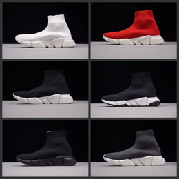 Wholesale M Runner - Sock Shoe Speed Trainer Running Shoes With box High Quality Sneakers Speed Trainer Socks Race Runners black Shoes men and women Sports Shoes