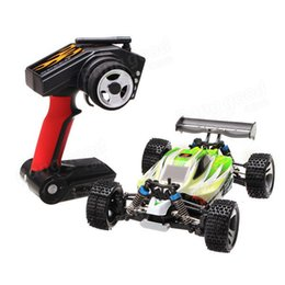 Wholesale Wltoys Buggy - WLtoys A959-B 1 18 4WD Buggy 70km h Highspeed Off-Road 1:18 RC Car 2.4G Radio Control Truck A959 Updated Version free shipping
