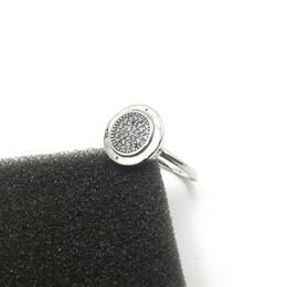 Anillos esterlinas para mujer online-925 plata esterlina CZ Diamond ANILLO PAN con caja original para Pandora anillos de boda de moda joyería del regalo del anillo