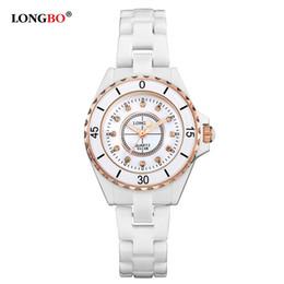 1e82f71a2bd mulher relógio longbo Desconto 2016 Nova Marca De Luxo LONGBO Mulheres  Relógio De Cerâmica Moda Genebra