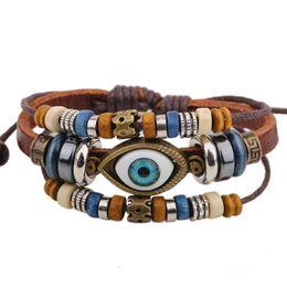 9d497ce66fd0 pulseras de cuero fresco para las mujeres Rebajas Pulseras del mal de ojo  para hombres Mujeres