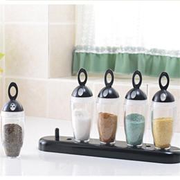 Argentina Nuevo conjunto de combinación de alta calidad cocina creativa condimento olla condimento caja botella de almacenamiento de especias botella de plástico Suministro