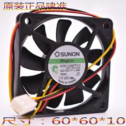 Wholesale Dual Ball Bearing - SUNON 6010 60*60*10mm 6cm DC 12V 1.4W KDE1206PFV1 Cooling Fan Ultra-thin silent cooling fan