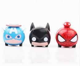 Wholesale Batman Toys Kids - 1:64 Alloy Car Pull Back Diecast Model Cars 3 Designs Captain America Spider-Man Batman Mini Model Cars Toys Kids Toys BBA188