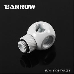 fan dc48v Rebajas Barrow G1 / 4 360 grados Rotary Fitting Rotary Metalic Cube Tee 5 Vías para la refrigeración por agua del ordenador TX5T-A01