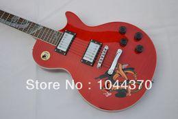 Wholesale Fretboard Inlays - shop new Custom guitar custom shop red Abalone snake inlay fretboard Electric guitar2017