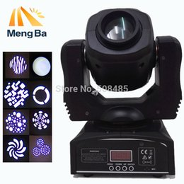 Wholesale Gobo Spot - Free shipping 60W led moving head spot light led mini moving head beam light double gobo wheel