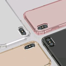 Wholesale Air Sound - Air cushion shockproof gel tpu sound switching speaker transparent phone case anti shock cover for iphone x 6 7 8 plus s8 R11