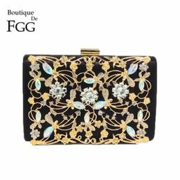 Boutique De FGG Borse da sera di cristallo della frizione di modo delle  donne Borse del fiore della festa nuziale del diamante di Appliques del  fiore del ... b9c7014fbab