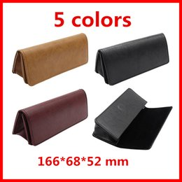 Wholesale Eyeglasses Cases Free Shipping - 1 PC Portable Light Triangular Fold Glasses Case Eyeglass Sunglasses Protector Box Wholesale DHL Free shipping