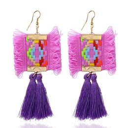asian costumes for women Promo Codes - Fashion Ethnic Tassel Earrings For Women Jewelry Costume Jewelry Charm For Wedding Party Gifts Fringed Long Drop Earrings