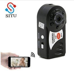 Wholesale Built Microphone Cameras Wireless - Q7 Mini Wifi DVR Wireless IP Camcorder Video Recorder Camera Infrared Night Vision Camera Motion Detection Built-in Microphone