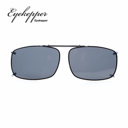 ca8aa2ba6297 C60 Eyekepper 58x38 MM Clip On Sunglasses With Spring Draw Bar Polarized