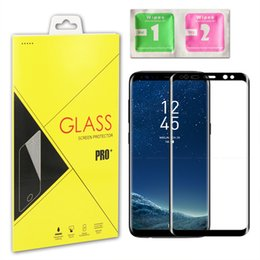 Wholesale Tempered Screen Protector Samsung S6 Full - For Samsung Galaxy S6 S7 Edge S8 S9 Plus Note 8 9H 3D Curved Side Full Cover Tempered Glass Screen Protector