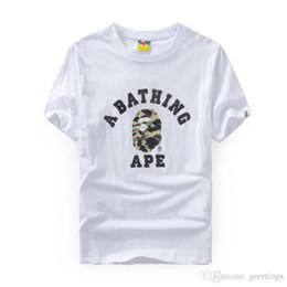 Gros Hommes Wmen Camo Imprimer Col Rond À Manches Courtes T-shirt Supply Co Homme Tops Tees Cartton Casual Tees Tailles S-2XL ? partir de fabricateur