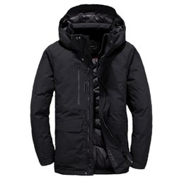 Wholesale Puffer Ski Jackets - 2018. High Quality New Winter men's Down puffer jacket Casual Brand Hoodies Down Parkas Warm Ski Mens Face Coats 3069