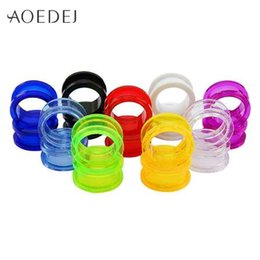Wholesale tunnel stretchers - 1.6-25mm Acrylic Ear Plugs And Tunnels Ear Gauges Piercing Expander Ear Piercing Tunnel 8mm Stretchers Plugs Tunnels Mandala