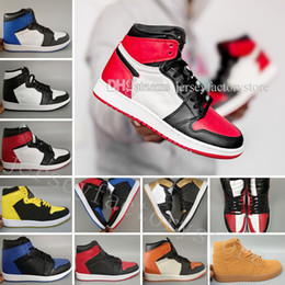 Wholesale Black Toe Shoes - 2018 OG 1 Top 3 Mens Basketball Shoes Bred Toe Chicago Banned Royal Blue Fragment UNC HOMAGE TO HOME New Love City Of Flight Sneakers Sports
