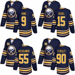 Wholesale Evander Kane - 2018 New Brand Buffalo Sabres 15 Jack Eichel Jersey 90 Ryan O'Reilly 9 Evander Kane Ice Jerseys Stitched Blue 55 Rasmus Ristolainen Navy
