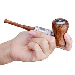 Sigarette elettroniche in legno online-Tsondianz New Style E-Pipe Kit Penna a sigaretta elettronica 1050mAh Power Wooden Design E Pipe 30W Penna a sigaretta elettronica Vape Retro