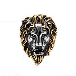 Wholesale Lion Rings Women - Neweat Titanium Steel Lion Head Rings Men Vintage Ring For Women Fashion Jewelry Punk Wedding Animal Ring Size7-16mm
