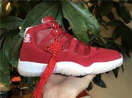 Wholesale Knots Men Women - 2018 Air Retro 11 Basketball Shoes for Men Wishing You Prosperity Chinese Lunar New Year Sneakers with Box and Chinese Knot The Remade