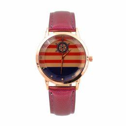 2019 спортивные часы оптом Dropship&Wholesale Unisex Gold Watches Nice Hot Design PU Leather Quartz Watch for Women/men Top  Wristwatch дешево спортивные часы оптом
