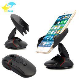 Dobrar o mouse on-line-Modelo do rato universal dobrável ajustável suporte do telefone móvel do painel do telefone móvel de montagem do carro suporte do telefone móvel gps montagem do carro