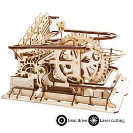 Robotime 4 вида мрамор запустить игру DIY Waterwheel каботажное судно деревянная модель здания комплекты сборки игрушка в подарок для детей взрослых LG501 от