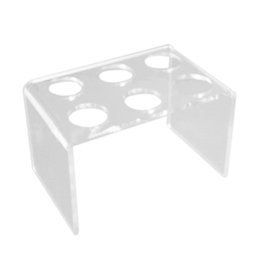 Wholesale Ice Cream Stands - 6 Holes Acrylic Stand Holder Ice Cream Crisp Tube Cone Holder Tools