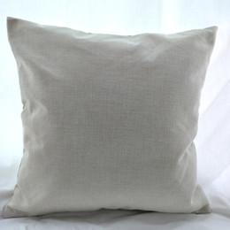 2019 almohadas en blanco 16x16 pulgadas de polietileno natural lino funda de almohada espacios en blanco para bricolaje sublimación arpillera llana cubierta de cojín bordado espacios en blanco directamente de fábrica
