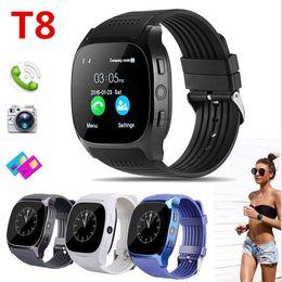 reloj t8 Rebajas T8 Bluetooth Smart Podómetro Relojes Soporte Tarjeta SIM TF Con Sincronización de Cámara Mensaje Hombres Mujeres Reloj Smartwatch
